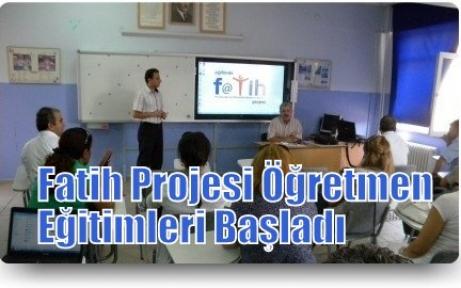 Fatih Projesi Öğretmen Eğitimleri Başladı