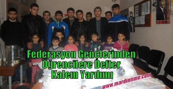 Federasyon Gençlerinden Öğrencilere Defter Kalem Yardımı