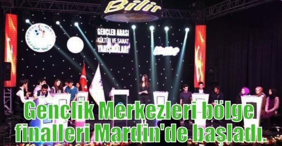 Gençlik Merkezleri bölge finalleri Mardin'de başladı.