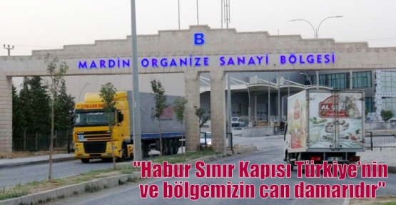 """""""Habur Sınır Kapısı Türkiye'nin ve bölgemizin can damarıdır"""""""