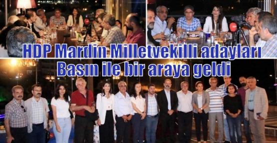 HDP Mardin Milletvekilli adayları Basın ile bir araya geldi