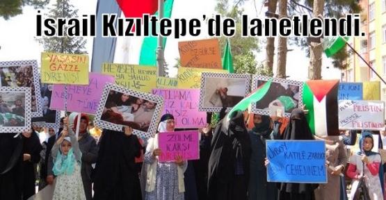 İsrail Kızıltepe'de lanetlendi.