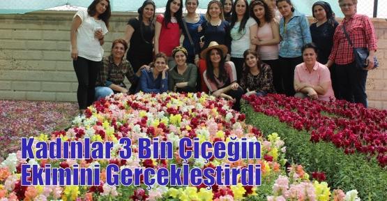 Kadınlar 3 Bin Çiçeğin Ekimini Gerçekleştirdi