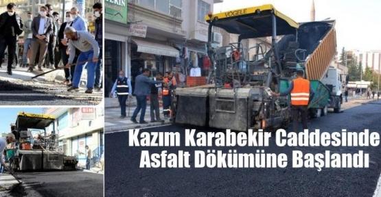 Kazım Karabekir Caddesinde Asfalt Dökümüne Başlandı