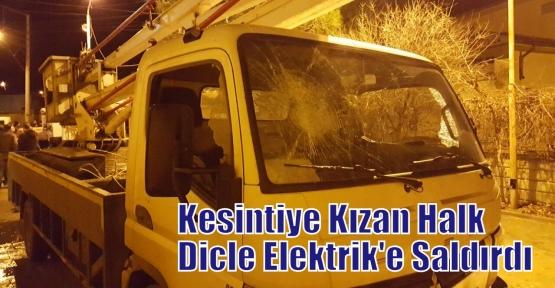 Kesintiye Kızan Halk Dicle Elektrik'e Saldırdı
