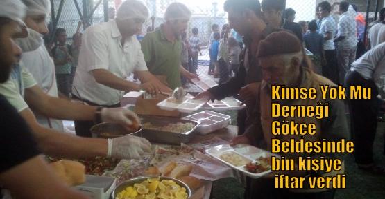 Kimse Yok Mu Derneği Gökçe Beldesinde bin kişiye iftar verdi