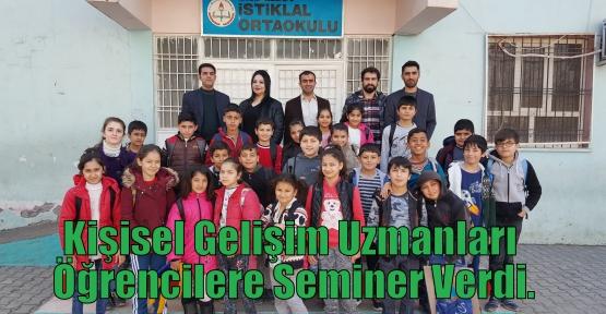 Kişisel Gelişim Uzmanları Öğrencilere Seminer Verdi.