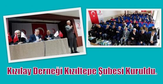 Kızılay Derneği Kızıltepe Şubesi Kuruldu.