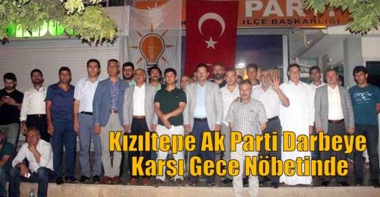 Kızıltepe Ak Parti Darbeye Karşı Gece Nöbetinde