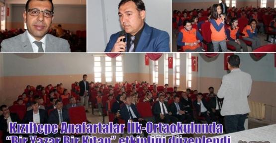 """Kızıltepe Anafartalar İlk-Ortaokulunda  'Bir Yazar Bir Kitap"""" etkinliği düzenlendi"""