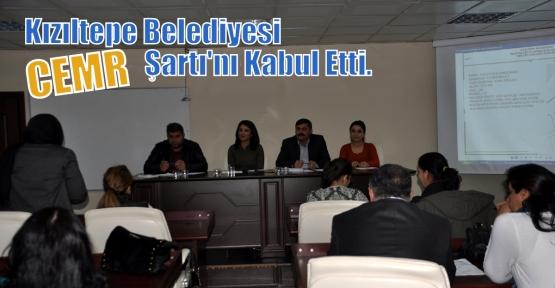 Kızıltepe Belediye CEMR Şartı'nı Kabul Etti.