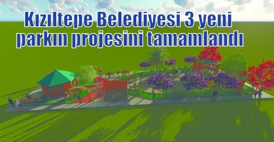 Kızıltepe Belediyesi 3 yeni parkın projesini tamamlandı
