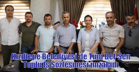 Kızıltepe Belediyesi ile Tüm Bel-Sen Toplu İş Sözleşmesi imzaladı.