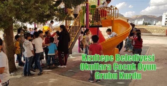 Kızıltepe Belediyesi Okullara Çocuk Oyun Grubu Kurdu