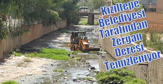Kızıltepe Belediyesi Tarafından  Zergan Deresi Temizleniyor