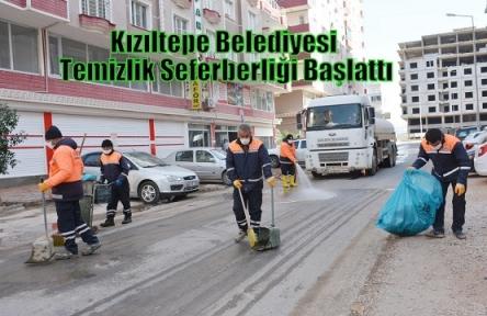 Kızıltepe Belediyesi Temizlik Seferberliği Başlattı