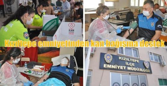 Kızıltepe emniyetinden kan bağışına destek