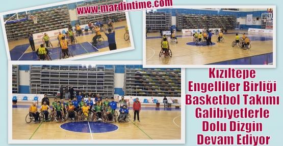 Kızıltepe Engelliler Birliği Basketbol Takımı Galibiyetlerle Dolu Dizgin Devam Ediyor