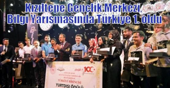 Kızıltepe Gençlik Merkezi, Bilgi Yarışmasında Türkiye 1. oldu
