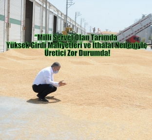 """Kızıltepe Hububat Merkezi Başkanı Öter """"Milli Servet Olan Tarımda  Yüksek Girdi Maliyetleri ve İthalat Nedeniyle Üretici Zor Durumda!"""