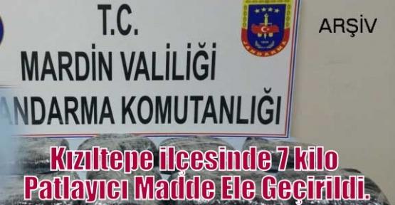 Kızıltepe ilçesinde 7 kilo Patlayıcı Madde Ele Geçirildi.