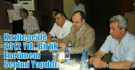 Kızıltepe  Köylere  Hizmet Götürme Birliğinin 2012 Yılı  Birlik Encümeni  Seçimi Yapıldı.