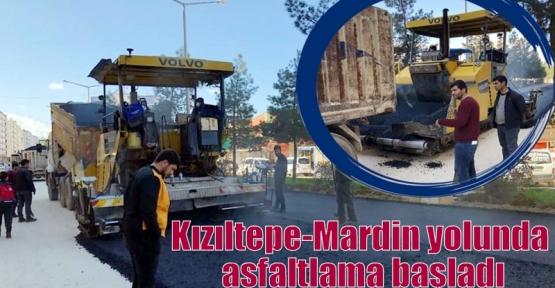 Kızıltepe-Mardin yolunda asfaltlama başladı