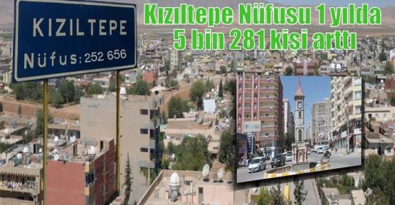 Kızıltepe Nüfusu 1 yılda 5 bin 281 kişi arttı