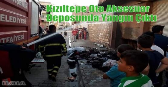 Kızıltepe Oto Aksesuar Deposunda Yangın Çıktı
