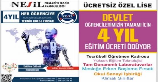 Kızıltepe Özel Nesil Mesleki ve Teknik Anadolu Lisesi