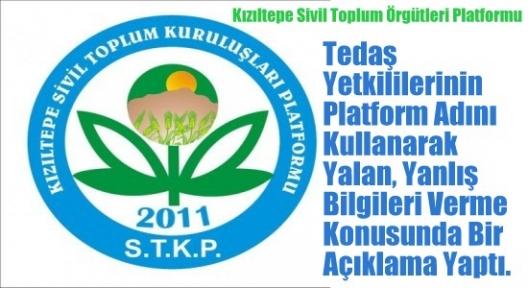 Kızıltepe Sivil Toplum Örgütleri Platformu Basın Açıklaması