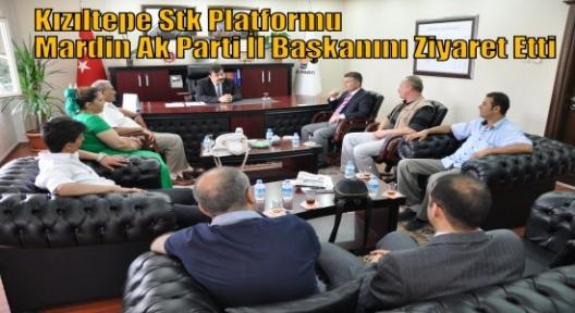 Kızıltepe Stk Platformu Mardin Ak Parti İl Başkanını Ziyaret Etti