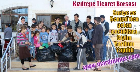 Kızıltepe Ticaret Borsasından Suriye ve Şengal gelen çocuklara Giyim Yardımı