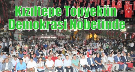 Kızıltepe Topyekün Demokrasi Nöbetinde