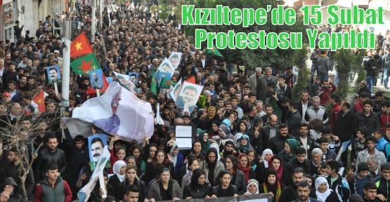 Kızıltepe'de 15 Şubat Protestosu Yapıldı