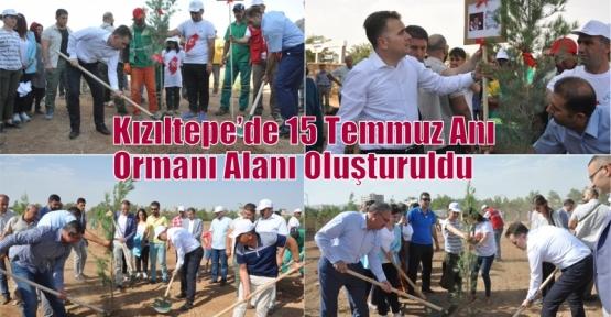 Kızıltepe'de 15 Temmuz Anı Ormanı Alanı Oluşturuldu