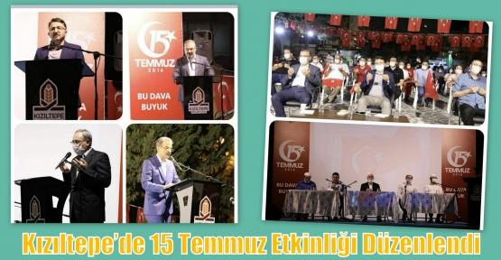 Kızıltepe'de 15 Temmuz Etkinliği Düzenlendi
