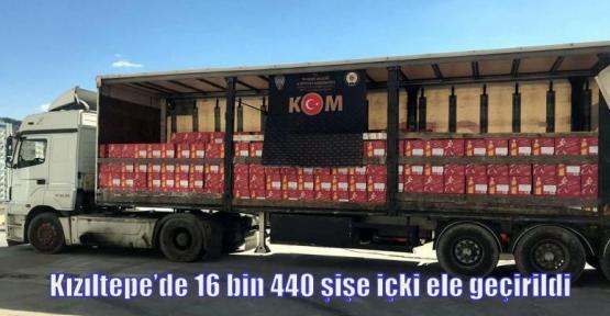Kızıltepe'de 16 bin 440 şişe içki ele geçirildi