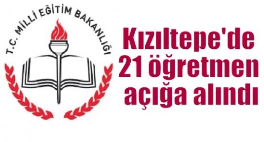 Kızıltepe'de 21 öğretmen açığa alındı