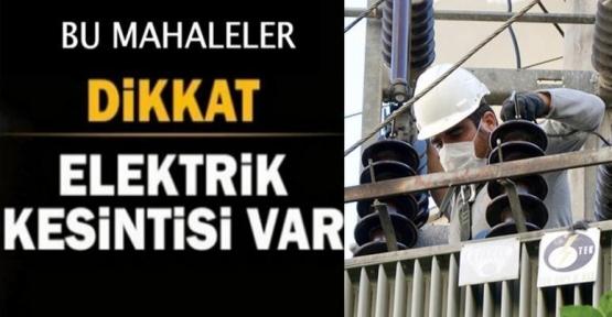 Kızıltepe'de 2 Mahallede 2 Gün elektrik kesintisi duyurusu