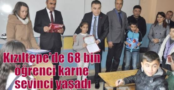Kızıltepe'de 68 bin öğrenci karne sevinci yaşadı