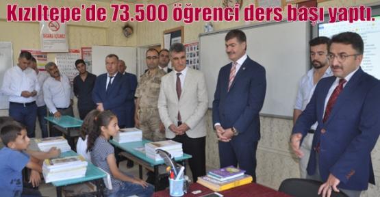 Kızıltepe'de 73.500 öğrenci ders başı yaptı.