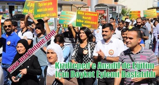 Kızılteped'e Anadil'de Eğitim İçin Boykot Eylemi Başlatıldı