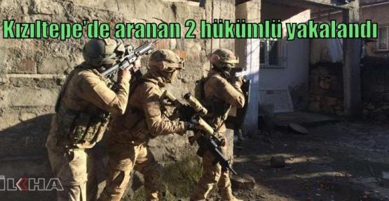 Kızıltepe'de aranan 2 hükümlü yakalandı