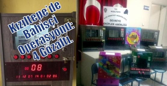 Kızıltepe'de Bahisçi Operasyonu: 4 Gözaltı.