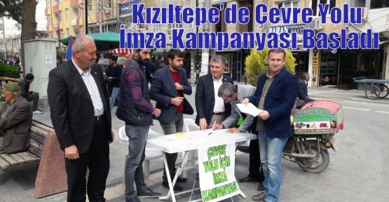 Kızıltepe'de Çevre Yolu İmza Kampanyası Başladı