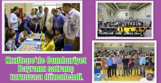 Kızıltepe'de Cumhuriyet Bayramı satranç turnuvası düzenlendi.