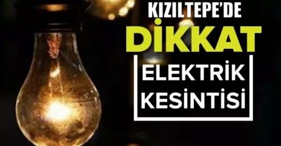 Kızıltepe'de elektrik kesintisine gidilecek