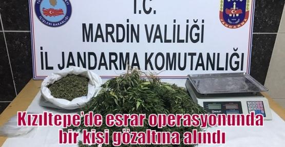 Kızıltepe'de esrar operasyonunda bir kişi gözaltına alındı