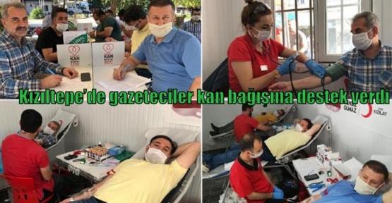 Kızıltepe'de gazeteciler kan bağışına destek verdi